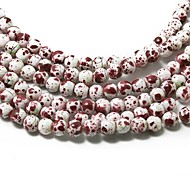 3str(apx.140pcs/str) Beadia Fashion Glass Beads 6mm Round White/Wine Multi Color DIY Spacer Loose Beads