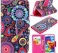 Colorful Circle Pattern with Card Bag Full Body Case for Samsung Galaxy S5 I9600