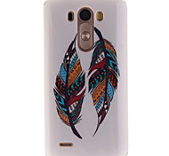 Colored Feather Patterns TPU Soft Case for LG G3