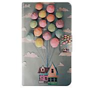 casa balão padrão pu couro caso de corpo inteiro com o cartão para Samsung Tab 4 7.0 T230