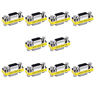 15pin VGA Female to VGA Female Mini Gender Changer Adapters (10 PCS)