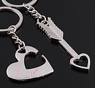 Alloy Wedding/Leisure Lovely Heart Key Chains 1 Pair