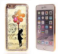 el brillo brillo híbrido girl diseño de lujo Bling con la caja de diamantes de imitación de cristal para el iphone 6