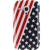 Red Striped Black Star Pattern TPU Soft Case for Samsung Galaxy S3 Mini I8190N