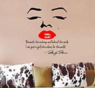 venta caliente marilyn monroe cita pegatinas zooyoo8002 etiquetas de la pared del vinilo del dormitorio salón arte de la pared de