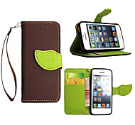 High Quality Wallet Card Holder PU Leather Flip Case Cover for iPhone 5C(Assorted Colors)