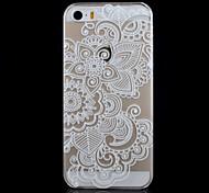 cinco patrón de flores caja del teléfono material de la PC impresión transparente para el iphone 5 / 5s
