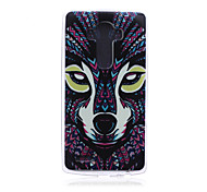 Wolf Pattern TPU Soft Back Cover Case for LG G4