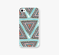 Triangle Brick Pattern PC Phone Case Back Cover Case for iPhone4/4S