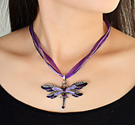 Wholesale Colored Dragonfly Shape Braided Rope Choker Necklace