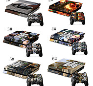 Pack of 4 Color Combo Flexible Skin For Sony PS4 Game Controller & 2 PS4 Gaming Controller Skins