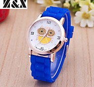 Women's Fashion Diamond  Candy Color Quartz Analog Silicone Wrist Watch(Assorted Colors)