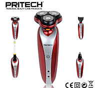 PRITECH Brand 4 IN 1 Strong Rechargeable Washable Shaver Hair Clipper Nose Trimmer With Toothbrush For Man Face Care