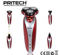 pritech Marke 4 in 1 stark wiederaufladbare waschbar Rasierer Haarschneidemaschine Nasentrimmer mit Zahnbürste für Mann Gesichtspflege