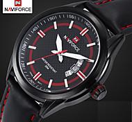 Men's Dress Watch Brand Design Quartz Watches Genuine Leather Band Waterproof Clock (Assorted Colors)