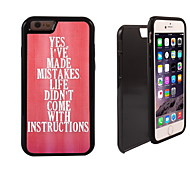 Yes I've Make Mistake Design 2 in 1 Hybrid Armor Full-Body Dual Layer Shock-Protector Slim Case for iPhone 6