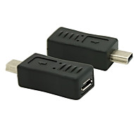 Mini USB 2.0 Male to Micro USB 2.0 Female Converter Connector Plug Adapter