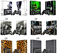 Full Body Decal Stciker Skin Set for Microsoft Xbox 360E Console+ 2 Free Controllers Skins