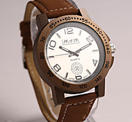 Men's Round Dial Case Leather Watch Brand Fashion Quartz Watch(More Color Available)