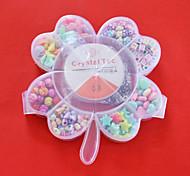 nette Acrylperlen sortierte Farbe und Form in Kunststoff-Box scherzt Spielzeuggeschenk diy Perlen für Halskette Armband Schmuck machen