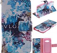 diseño clásico azul de la PU cuero estuche de protección de cuerpo completo con soporte para para Samsung Galaxy Ace 4 g313h