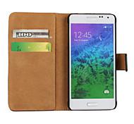 estojo rígido padrão de superfície de luz de cor sólida com pressão magnética e slot para cartão para Samsung Galaxy alpha / expressar 2 /