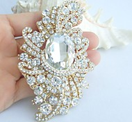 Wedding Accessories Wedding Deco Gold-tone Clear Rhinestone Crystal Bridal Brooch Bridal Bouquet Wedding Brooch