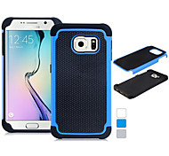 2 In 1 Ball Grain Design Silicone & Plastic Protective Case for Samsung Galaxy S6 edge