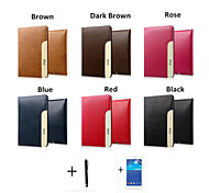 PU Leather Cover Solid style For ipad234 +Screen Protector+Stylus