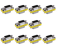 15pin VGA Male to VGA Male Mini Gender Changer Adapters (10 PCS)