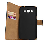 Genuine Leather Wallet Case for Samsung Galaxy Grand 2 G7106/G7109