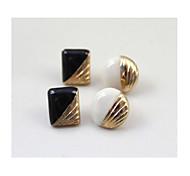 love2sis Marke zweifarbige geometrische Ohrringe * 4pc