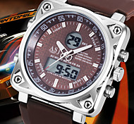 NEW Arrive 3ATM Waterproof Mens Sport Wirst Quartz Digtal Watch Rubber Square Dual Time Chronograph Alarm