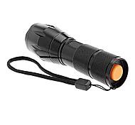 Linternas LED / Linternas de Mano LED 5 Modo 2000 Lumens A Prueba de Agua Cree XM-L T6 18650.0 / AAA Múltiples Funciones - Otros , Negro