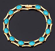 u7® bracelets turquoise bracelets pour les femmes plaqué or 18k réelle bracelets bijoux en pierre de dinde