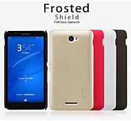 Per Custodia Sony Effetto ghiaccio Custodia Custodia posteriore Custodia Tinta unita Resistente PC Sony Sony Xperia E4