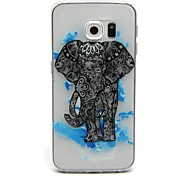 For Samsung Galaxy Case Transparent / Embossed Case Back Cover Case Elephant TPU Samsung S6 edge