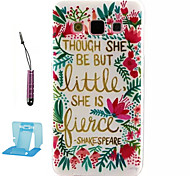 For Samsung Galaxy Case Pattern Case Back Cover Case Word / Phrase TPU Samsung A3