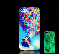 Balloon Pattern Glow in the Dark Cover for iPhone 4 / iPhone 4 S Case