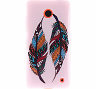 Color Feather Pattern TPU Soft Case for Nokia Lumia 630/635/636/638
