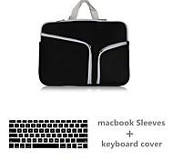 mayor venta bolso de la cremallera de la lona de color sólido con cubierta del teclado para MacBook Pro de 15,4 (colores surtidos)
