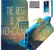 melhor caso de couro pu vindo padrão de coco fun® com protetor de tela e cabo USB e caneta para iPhone 5 / 5s