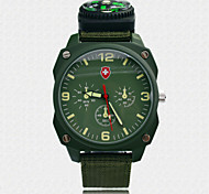 Men's Fashion Sports Watch Outdoor Nylon Fabric Leisure Wrist Watches Men