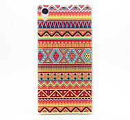 National Wind Pattern Plastic Hard Back Case Cover for Sony Z1
