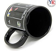 Magic Heat Sensitive Tetris Pattern Color Changing Mug Ceramic Coffee Tea Cup