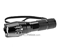 LED Flashlights/Torch / Handheld Flashlights/Torch LED 1200 Lumens 5 Mode Cree XM-L T6 18650 Adjustable Focus Aluminum alloy