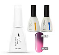 Azure 3 Pcs/Lot Nail Gel Chameleon UV Gel Soak-off Nail Care Polish (#12+BASE +TOP)