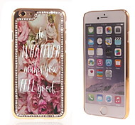 Do Whatever Makes You Feel Good Design Luxury Hybrid Bling Glitter Sparkle With Crystal Rhinestone Case for iPhone 6