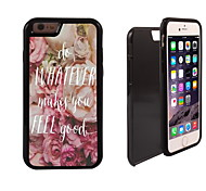 Do Whatever Makes You Feel Good Design 2 in 1 Hybrid Armor Full-Body Dual Layer Shock-Protector Slim Case for iPhone 6