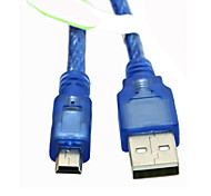 USB2.0 A Male to Mini USB 5Pin Adapter Extension Cable Blue